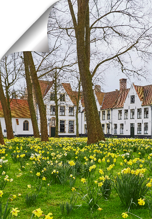 The Princely Beguinage with its white-coloured house fronts and tranquil convent garden was founded in 1200. Today the little piece of world heritage is still inhabited by nuns of Benedict.