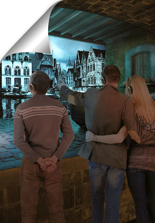 Travel back in time to Medieval Bruges with virtual reality. The venue offers a nice view on the Market Square and the Belfry.