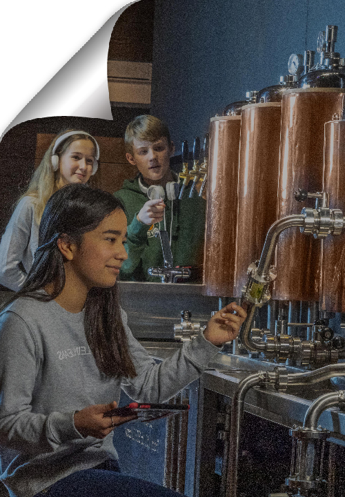 At the Bruges Beer Museum you discover the most fascinating aspects of the beer brewing processes in a fun and innovative way.