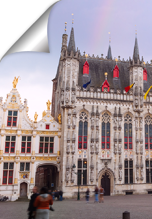 The Burg is one of the oldest parts of the city, surrounded by the City Hall, the Basilica of the Holy Blood and the residences of the Counts of Flanders